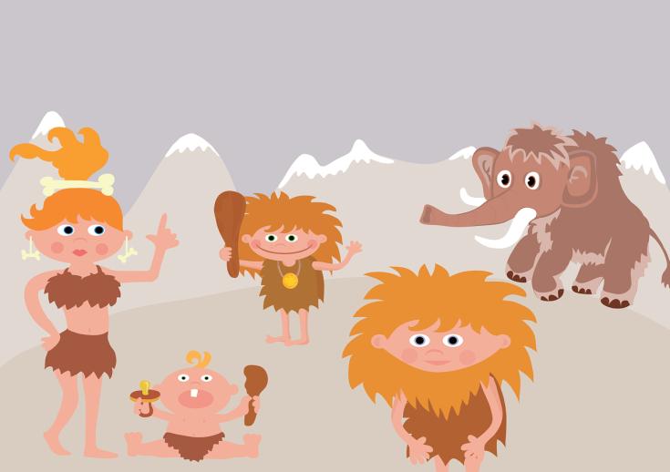 Überleben Kampf Urzeit Steinzeit Höhlenmensch